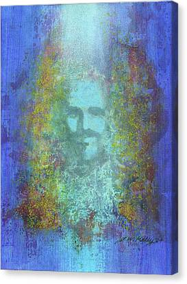 Peeking Thru Maya 2 In Blue Canvas Print by J W Kelly