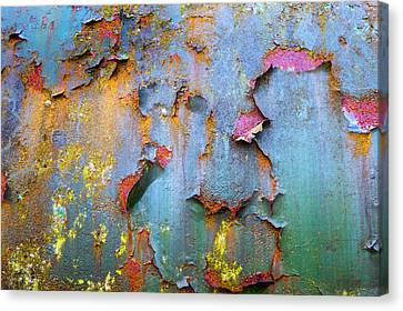 Peeling Paint And Rust Textures 135 Canvas Print