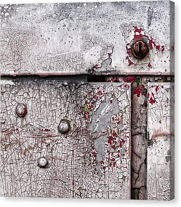 Peeling Paint On Metal Canvas Print by Carol Leigh
