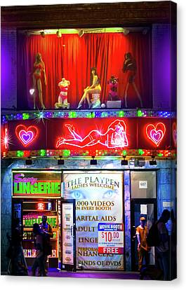 Toy Shop Canvas Print - Times Square Peep Show by Mark Andrew Thomas