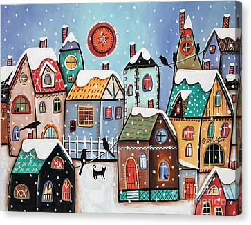 City Scapes Canvas Print - Peering by Karla Gerard