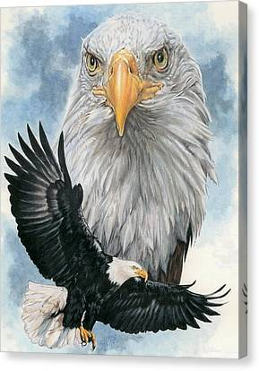 Eagle Canvas Print - Peerless by Barbara Keith