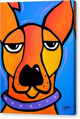 Peeved Canvas Print by Tom Fedro - Fidostudio