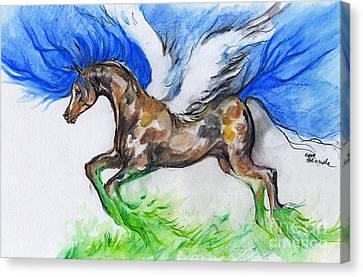Pegasus Canvas Print by Angel  Tarantella