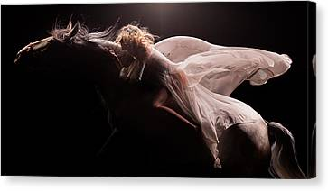 Canvas Print featuring the photograph Pegasus by Dario Infini