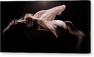 Canvas Print featuring the photograph Pegasus Full by Dario Infini