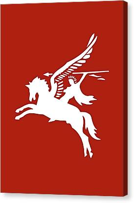 Pegasus In War Canvas Print by Kristin Elmquist