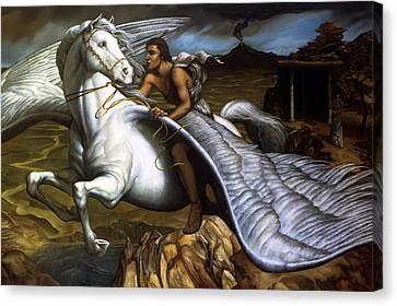 Pegasus Canvas Print by Jane Whiting Chrzanoska