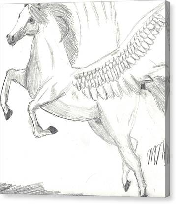 Pegasus Canvas Print by Maddi Pollihan