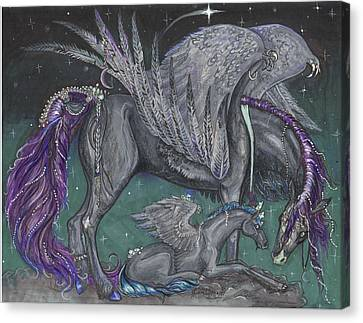 Pegasus Mare And Foal Canvas Print