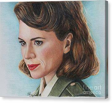 Peggy Carter / Hayley Atwell Canvas Print