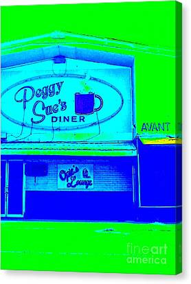 Peggy Sues Diner Canvas Print - Peggy Sue's Diner by Paula Baker