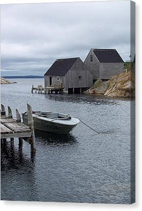 Canvas Print featuring the photograph Peggys Cove Canada by Richard Bryce and Family