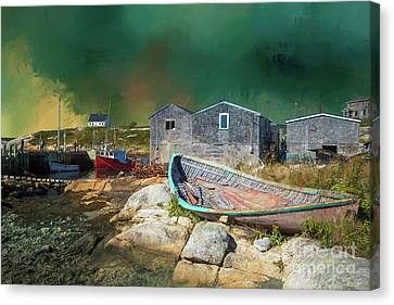 Peggy's Cove Canvas Print by Eva Lechner