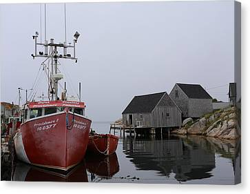 Bluenose Canvas Print - Peggy's Cove Fishing Boat by Imagery-at-Work