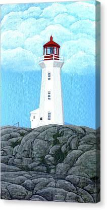 Peggy's Cove Lighthouse Painting Canvas Print by Frederic Kohli