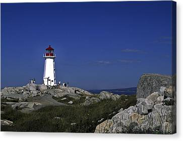 Peggy's Cove Lighthouse Canvas Print by Sally Weigand