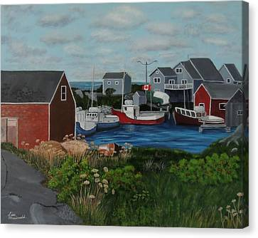 Peggy's Cove Canvas Print by Lisa MacDonald