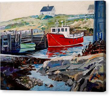 Peggys Cove Canvas Print by Michael McDougall