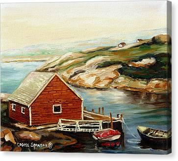 Bluenose Canvas Print - Peggys Cove Nova Scotia Landmark by Carole Spandau
