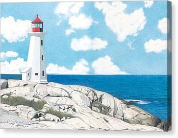 Peggy's Cove Nova Scotia Canvas Print by Wilfrid Barbier