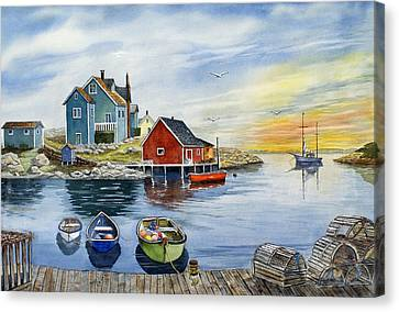 Peggys Cove  Canvas Print by Raymond Edmonds