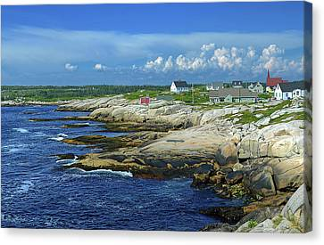 Canvas Print featuring the photograph Peggy's Cove by Rodney Campbell