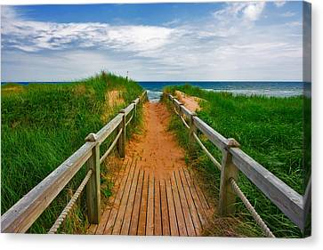 Pei Beach Boardwalk 2 Canvas Print