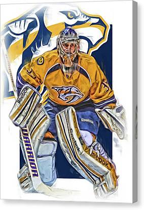 Pekka Rinne Nashville Predators Canvas Print by Joe Hamilton