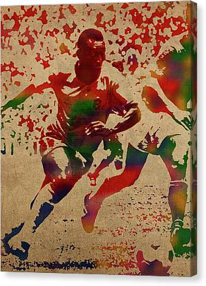 Pele Canvas Print - Pele Watercolor Portrait by Design Turnpike