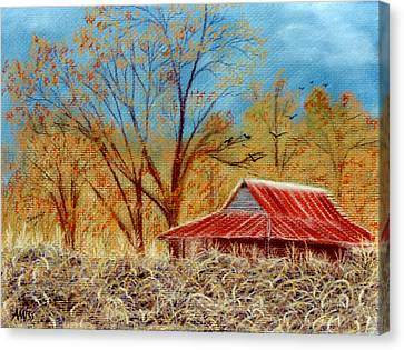 Pelham Barn Canvas Print by Jan Amiss