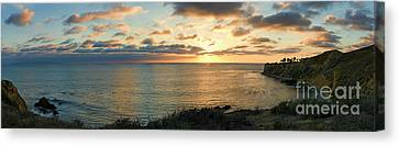 Canvas Print featuring the photograph Pelican Cove Park Panorama by Eddie Yerkish