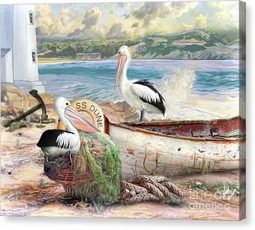 Pelican Cove Canvas Print by Trudi Simmonds