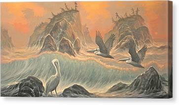 Pelican Paradise Canvas Print by Marte Thompson