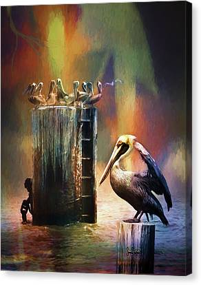 Pelican Ways Canvas Print
