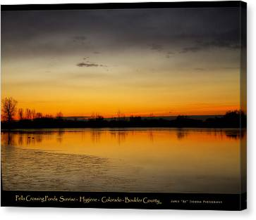 Pella Ponds  December 16th Sunrise Poster Photography Print Canvas Print by James BO  Insogna