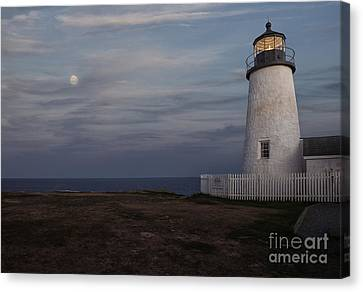 Pemaquid And Full Moon Canvas Print