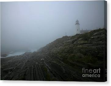 Pemaquid And The Sea Canvas Print