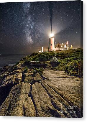 Pemaquid At Night Canvas Print by Benjamin Williamson