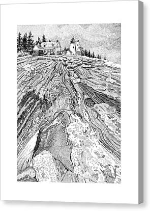 Pemaquid Light Canvas Print by Philip LeVee