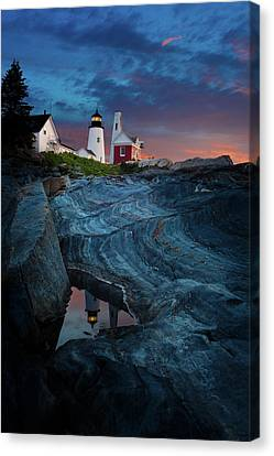 Pemaquid Lighthouse At Dawn Canvas Print