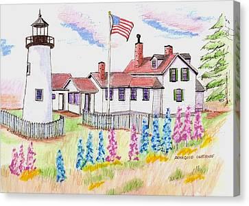 Pemaquid Lighthouse Canvas Print by Paul Meinerth