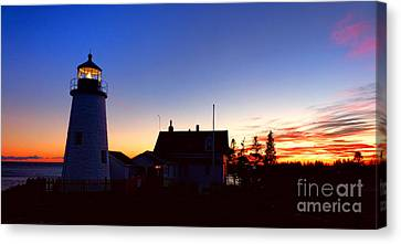 Pemaquid Point Evening Canvas Print