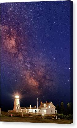 Pemaquid Point Lighthouse And The Milky Way Canvas Print by Rick Berk