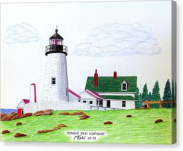 Pemaquid Point Lighthouse Canvas Print by Frederic Kohli