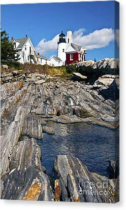 Pemaquid Point Lighthouse Maine 9 Canvas Print