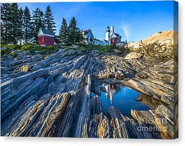 Pemaquid Point Lighthouse Maine Canvas Print by Diane Diederich