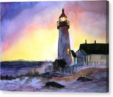 Pemaquid Point Lighthouse Maine Canvas Print by Larry Hamilton