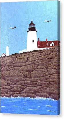 Pemaquid Point Lighthouse Painting Canvas Print by Frederic Kohli
