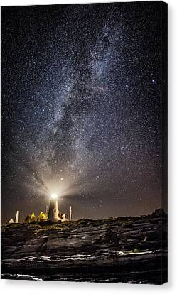 Pemaquid Point Milky Way Canvas Print